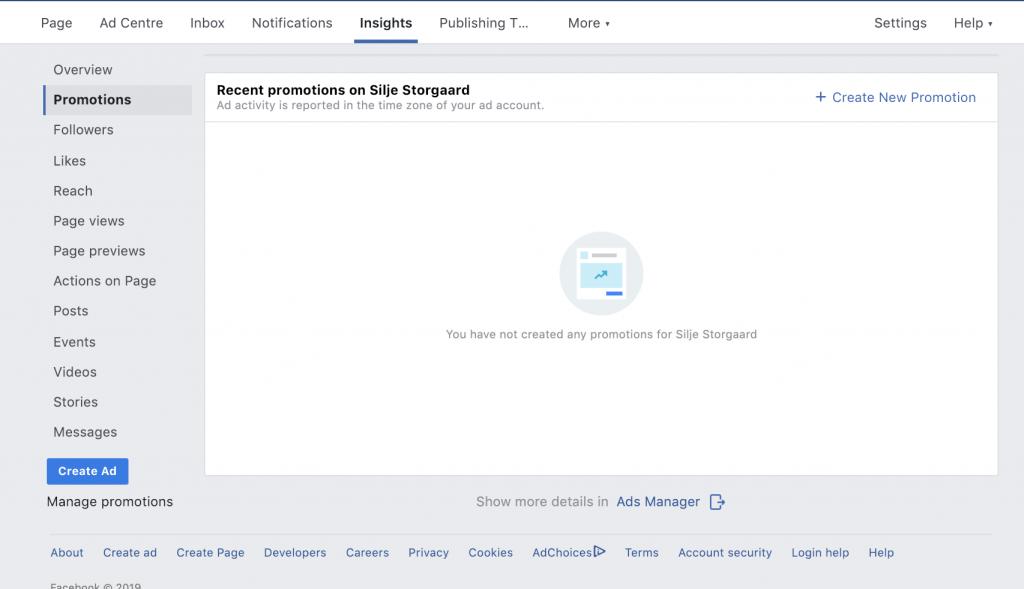 Facebook Promovering