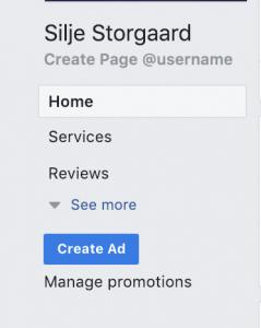 Facebook create ad boost